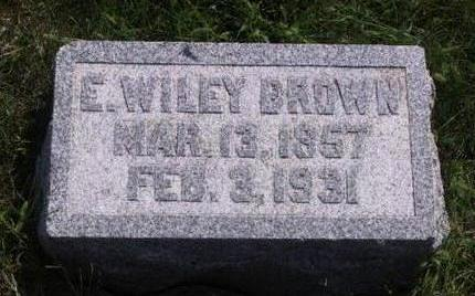 BROWN, EDWARD WILEY - Warren County, Iowa | EDWARD WILEY BROWN
