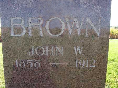 BROWN, JOHN W. - Warren County, Iowa | JOHN W. BROWN