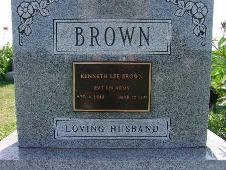BROWN, KENNETH LEE - Warren County, Iowa   KENNETH LEE BROWN