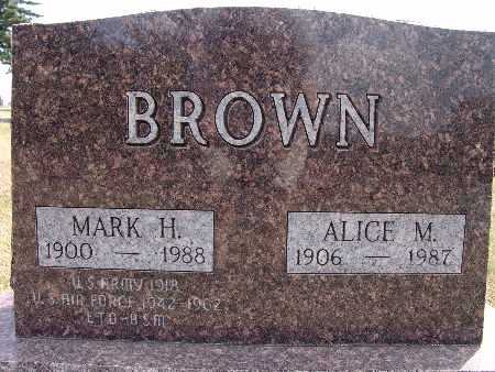 BROWN, ALICE M. - Warren County, Iowa | ALICE M. BROWN