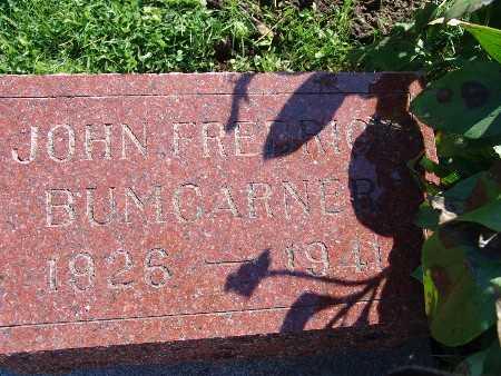 BUMGARNER, JOHN FREDRICK - Warren County, Iowa | JOHN FREDRICK BUMGARNER