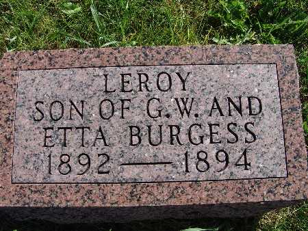 BURGESS, LEROY - Warren County, Iowa | LEROY BURGESS