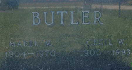 BUTLER, MABEL M - Warren County, Iowa | MABEL M BUTLER