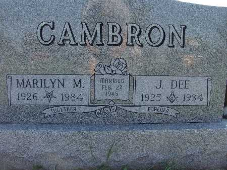 CAMBRON, MARILYN M. - Warren County, Iowa | MARILYN M. CAMBRON