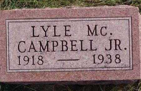 CAMPBELL, LYLE MC. JR. - Warren County, Iowa | LYLE MC. JR. CAMPBELL