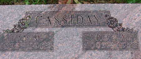 CASSIDAY, FAY M - Warren County, Iowa | FAY M CASSIDAY