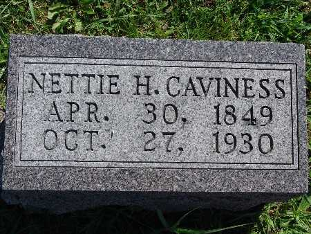 CAVINESS, NETTIE H - Warren County, Iowa | NETTIE H CAVINESS