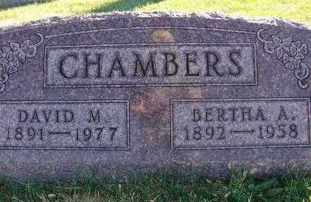 CHAMBERS, BERTHA A. - Warren County, Iowa | BERTHA A. CHAMBERS