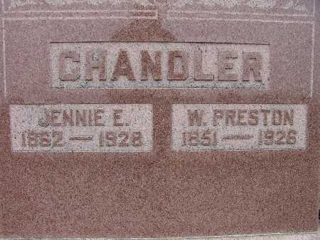 CHANDLER, W. PRESTON - Warren County, Iowa | W. PRESTON CHANDLER
