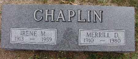 CHAPLIN, MERRILL D. - Warren County, Iowa | MERRILL D. CHAPLIN