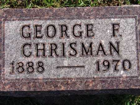 CHRISMAN, GEORGE F - Warren County, Iowa | GEORGE F CHRISMAN
