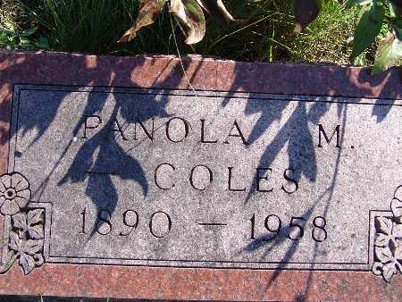COLES, PANOLA M - Warren County, Iowa | PANOLA M COLES