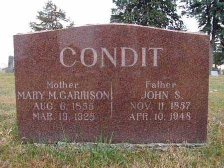 CONDIT, MARY M. GARRISON - Warren County, Iowa | MARY M. GARRISON CONDIT