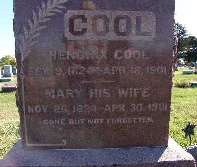 COOL, MARY - Warren County, Iowa | MARY COOL
