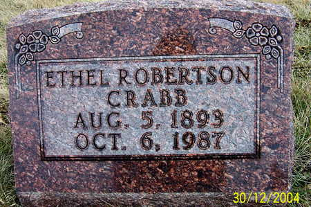 ROBERTSON CRABB, ETHEL LOUISE - Warren County, Iowa | ETHEL LOUISE ROBERTSON CRABB