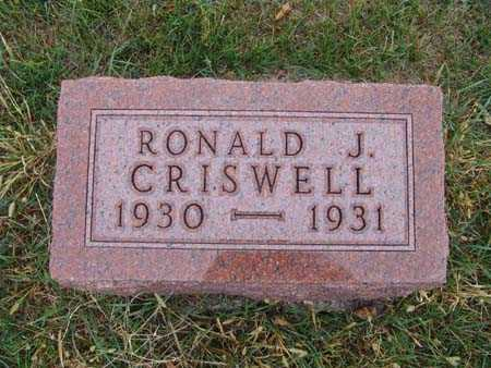 CRISWELL, RONALD J. - Warren County, Iowa | RONALD J. CRISWELL