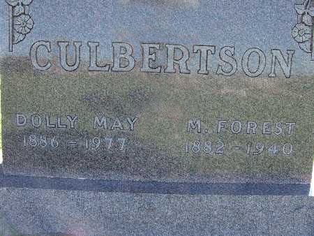 CULBERTSON, DOLLY MAY - Warren County, Iowa | DOLLY MAY CULBERTSON