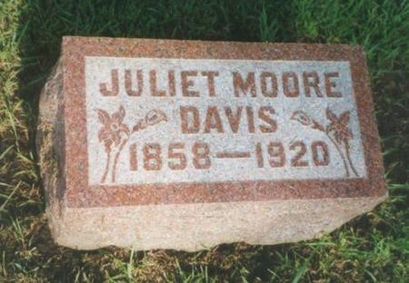 DAVIS, JULIET (MOORE) - Warren County, Iowa | JULIET (MOORE) DAVIS