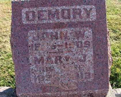 DEMORY, JOHN W. - Warren County, Iowa | JOHN W. DEMORY