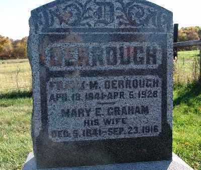 GRAHAM DERROUGH, MARY E. - Warren County, Iowa | MARY E. GRAHAM DERROUGH