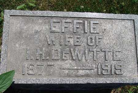 DEWITTE, EFFIE - Warren County, Iowa | EFFIE DEWITTE