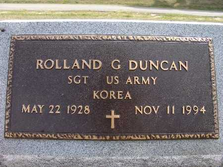 DUNCAN, ROLLAND G. - Warren County, Iowa | ROLLAND G. DUNCAN