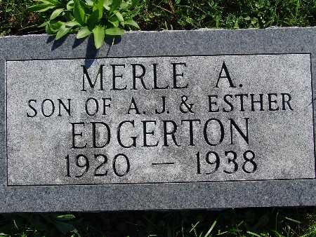 EDGERTON, MERLE A - Warren County, Iowa | MERLE A EDGERTON
