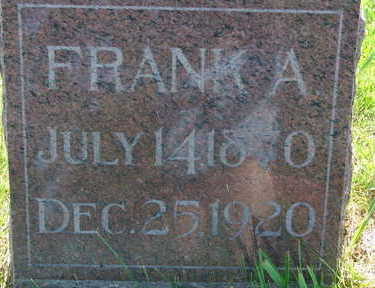 FELLOWS, FRANK A - Warren County, Iowa | FRANK A FELLOWS