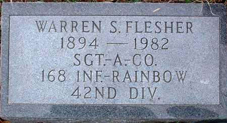FLESHER, WARREN S. - Warren County, Iowa | WARREN S. FLESHER