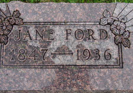 FORD, JANE - Warren County, Iowa | JANE FORD