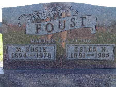 FOUST, ESLER N - Warren County, Iowa | ESLER N FOUST