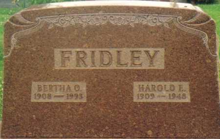 FRIDLEY, BERTHA O. - Warren County, Iowa | BERTHA O. FRIDLEY