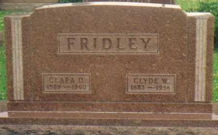 FRIDLEY, CLARA O. - Warren County, Iowa | CLARA O. FRIDLEY