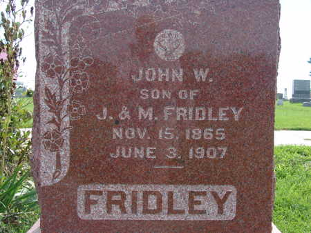 FRIDLEY, JOHN W - Warren County, Iowa | JOHN W FRIDLEY