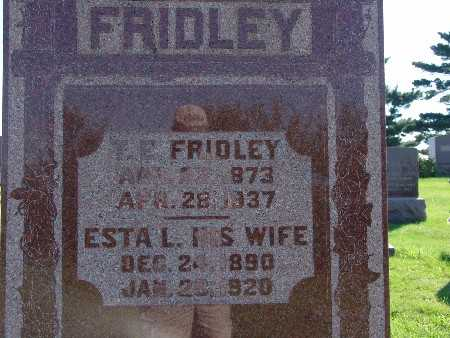 FRIDLEY, ESTA L - Warren County, Iowa | ESTA L FRIDLEY