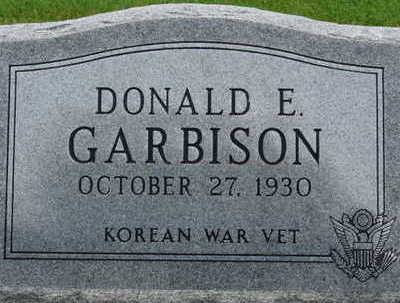 GARBISON, DONALD E - Warren County, Iowa | DONALD E GARBISON