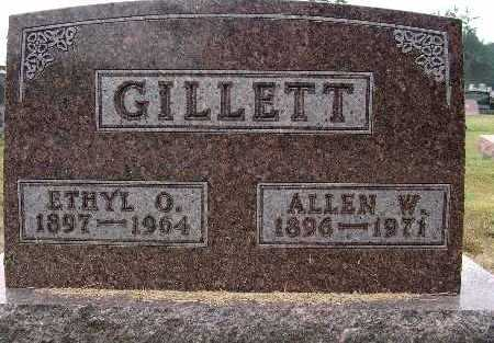 GILLETT, ALLEN W. - Warren County, Iowa | ALLEN W. GILLETT