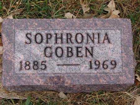 GOBEN, SOPHRONIA - Warren County, Iowa | SOPHRONIA GOBEN