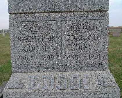 BARNETT GOODE, RACHEL B. - Warren County, Iowa | RACHEL B. BARNETT GOODE