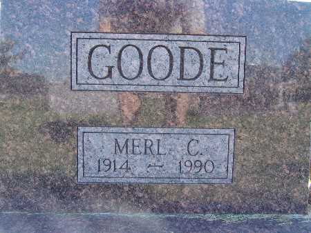 GOODE, MERL C. - Warren County, Iowa | MERL C. GOODE