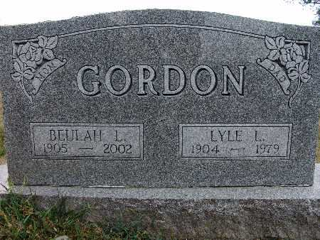 GORDON, LYLE L. - Warren County, Iowa | LYLE L. GORDON
