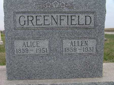 GREENFIELD, ALICE - Warren County, Iowa | ALICE GREENFIELD