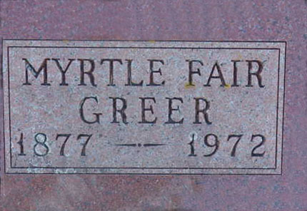 GREER, MYRTLE - Warren County, Iowa | MYRTLE GREER