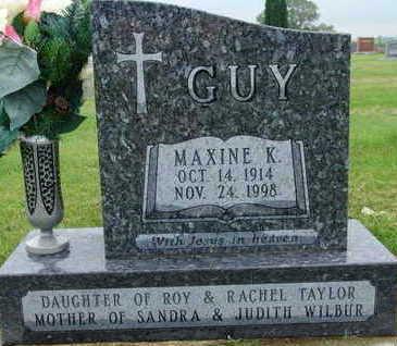 GUY, MAXINE K - Warren County, Iowa   MAXINE K GUY