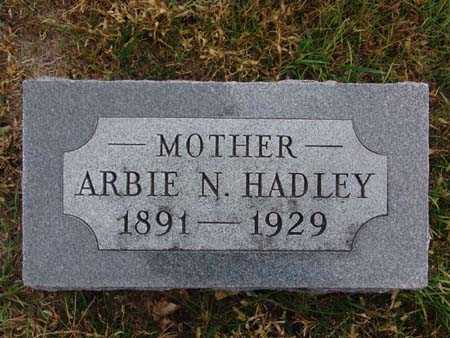 HADLEY, ARBIE N. - Warren County, Iowa | ARBIE N. HADLEY