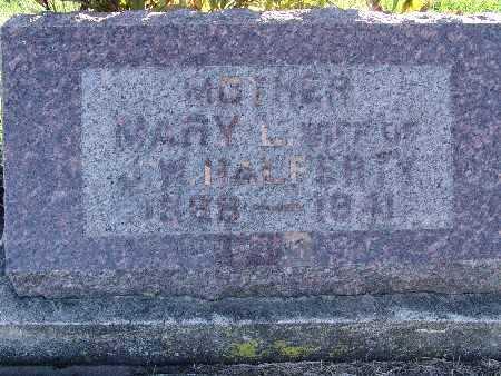 HALFERTY, MARY L. - Warren County, Iowa   MARY L. HALFERTY