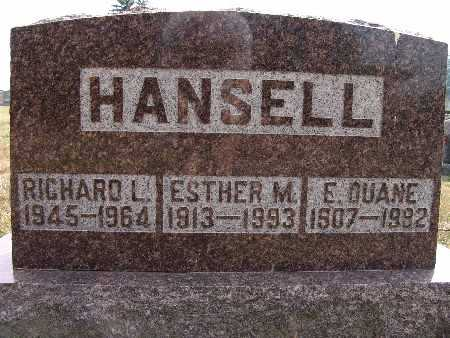 HANSELL, RICHARD L. - Warren County, Iowa | RICHARD L. HANSELL