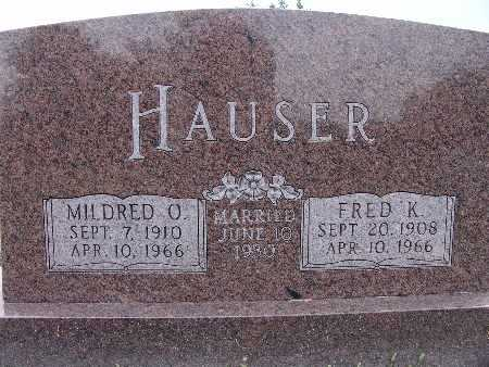 HAUSER, MILDRED O. - Warren County, Iowa | MILDRED O. HAUSER