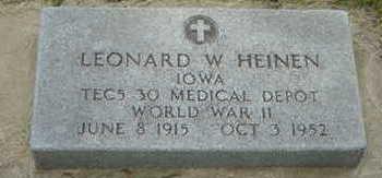 HEINEN, LEONARD W - Warren County, Iowa | LEONARD W HEINEN