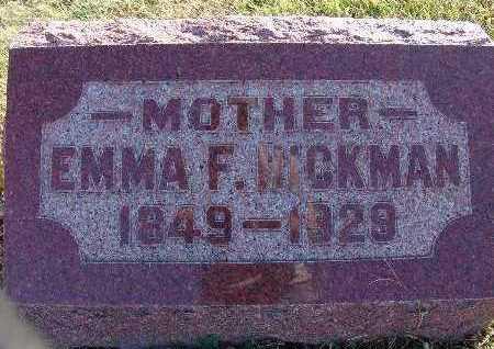 HICKMAN, EMMA F. - Warren County, Iowa   EMMA F. HICKMAN